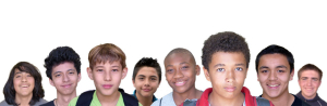 Happy teenage boys