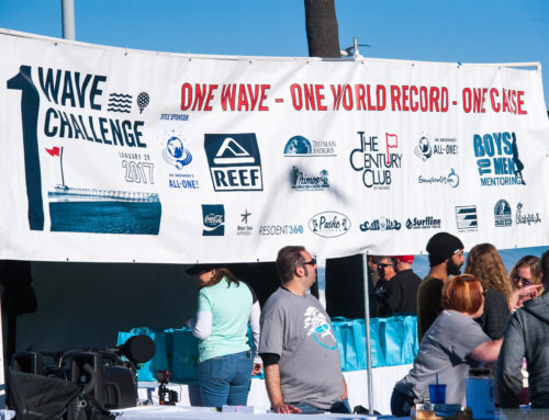 Surfers and Runners TEAM UP for World Record-Breaking 1 Wave Challenge & Beach Run